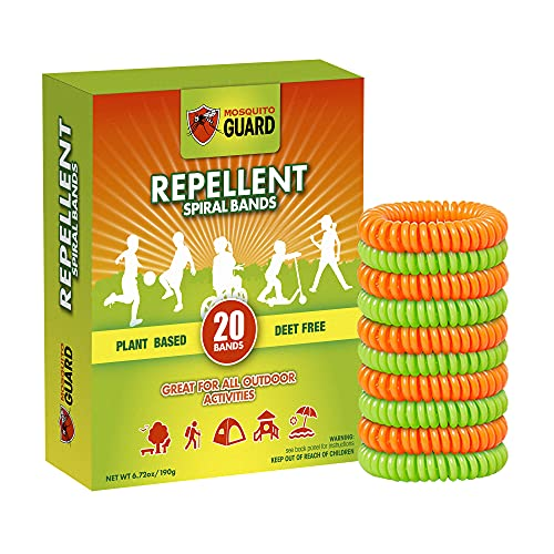 Mosquito Guard Kids Repellent Bands / Bracelets (20 Individually Packed...