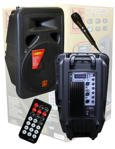 Mr. Dj PP3500MP3 15-Inch 2500 Watts Max Power Speaker with Built in LCD/AM...