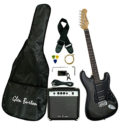 Glen Burton GE101BCO-BKB Electric Guitar Stratocaster-Style Combo with...