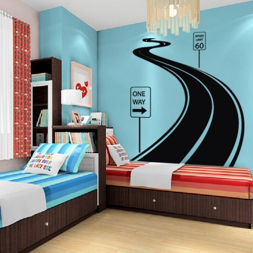 Large Wall Decal Vinyl Sticker Decals Art Decor Design Road Track Car Band...