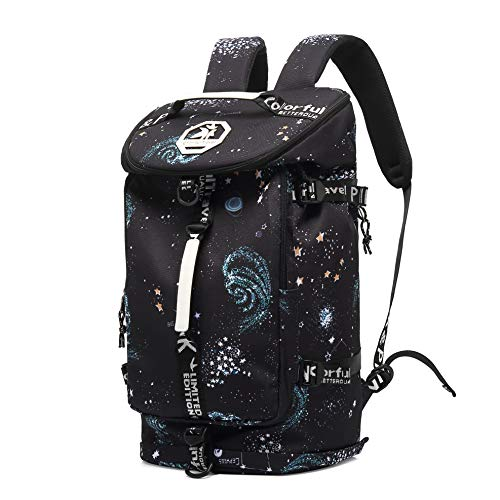Cool Gym Duffle Bag Backpack 4-Way Waterproof with Shoes Compartment for...