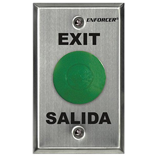 Seco-Larm Enforcer Mushroom Button Push-to-Exit Plate, Green...