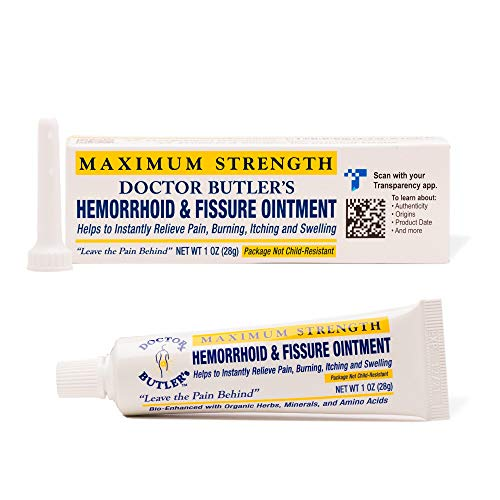 Doctor Butler's Hemorrhoid & Fissure Ointment - Hemorrhoid Treatment with...