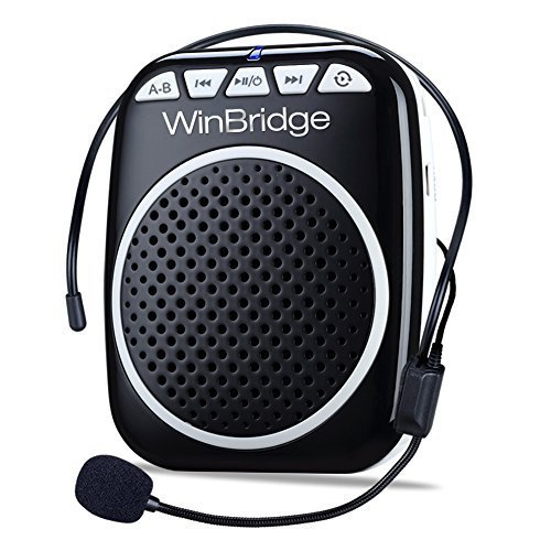 W WINBRIDGE WB001 Portable Voice Amplifier with Headset Microphone Personal...