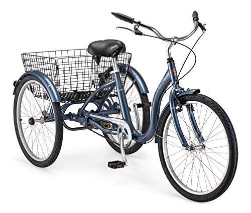 Schwinn Meridian Adult Tricycle with 24-Inch Wheels in Slate Blue, with Low...