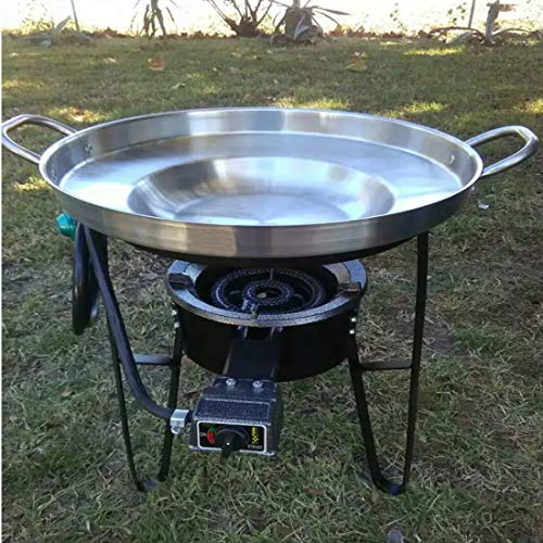 Large 3 in 1 Mexican Style Concave Comal Stainless Steel 22' Set With...
