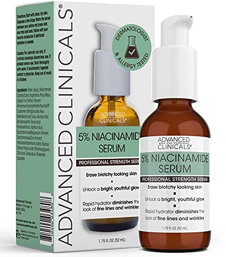 Advanced Clinicals Niacinamide Serum - 5% Niacinamide Serum for Face with...