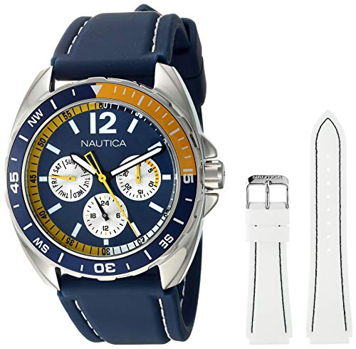 Nautica Men's N09915G Sport Ring Multifunction Stainless Steel Watch With...