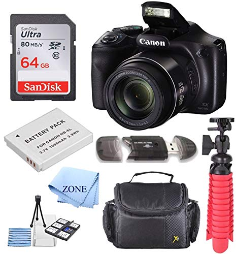 Canon PowerShot SX540 HS 20.3MP Digital Camera with 50x Optical Zoom + 64GB...