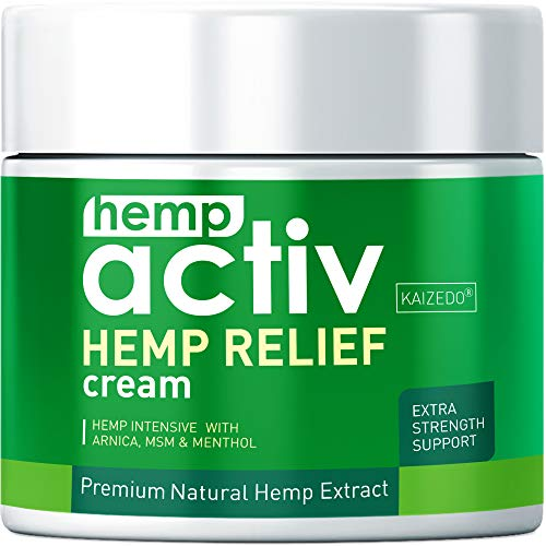 Hempactiv Joint & Muscle Relief Cream, Infused with Hemp, Menthol, MSM &...
