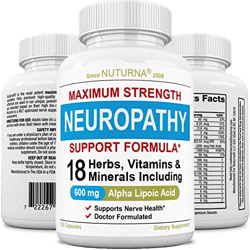 Neuropathy Support Supplement with 600 mg Alpha Lipoic Acid Daily Dose -...