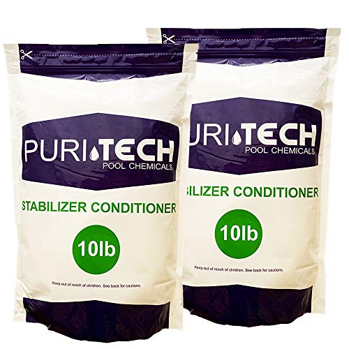 20 lbs Puri Tech Stabilizer Conditioner Cyanuric Acid UV Protection for...