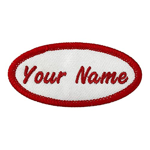 Custom Oval Name Patch, 2pcs Personalized Embroidered Name tag sew on/Iron...