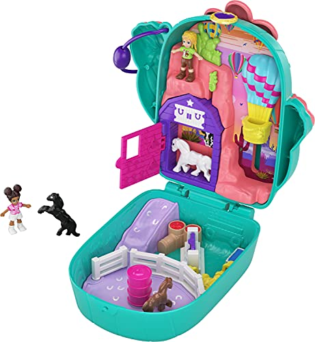 Polly Pocket Pocket World Cactus Cowgirl Ranch Compact with Fun Reveals,...