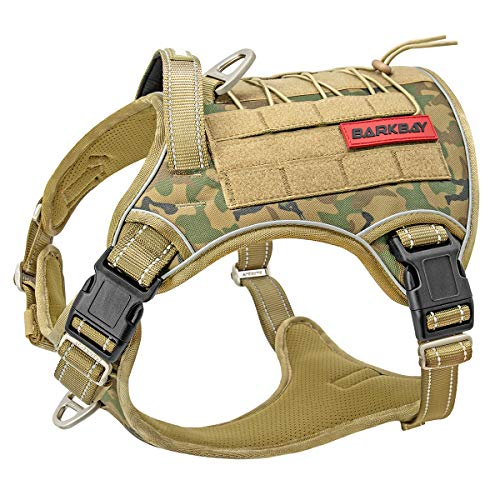 Tactical Dog Harness Large,Military Service Weighted Dog Vest Harness...