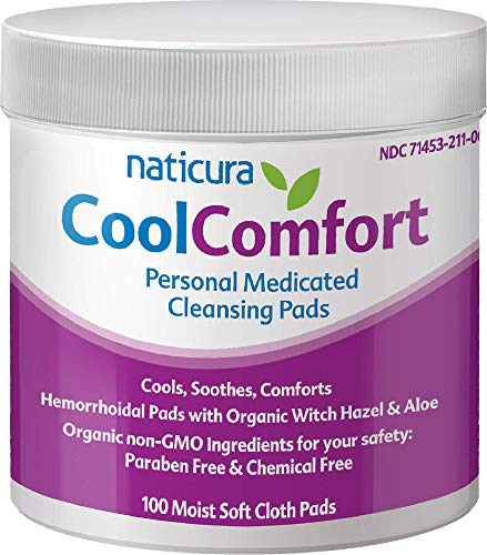 Naticura: CoolComfort Personal Cleansing Pads with Organic Witch Hazel and...