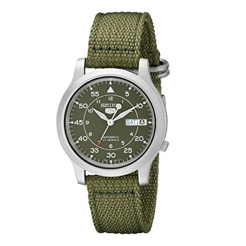 SEIKO Men's SNK805 SEIKO 5 Automatic Stainless Steel Watch with Green...