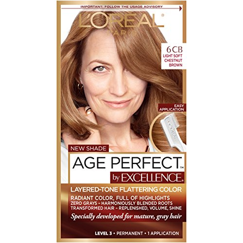 L'Oreal Paris ExcellenceAge Perfect Layered Tone Flattering Color, 6CB...