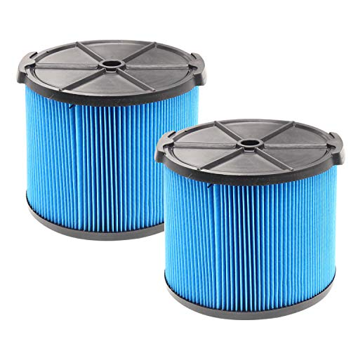 2 Pack VF3500 Replacement Filter for Ridgid Shop Vac 3-4.5 Gallon Vacuums...