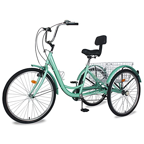 Slsy Adult Tricycles 7 Speed, Adult Trikes 20/24 / 26 inch 3 Wheel Bikes,...