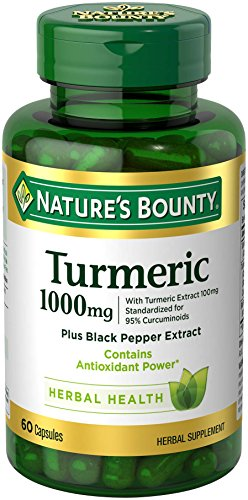 Nature's Bounty Turmeric Pills and Herbal Health Supplement, Supports Joint...