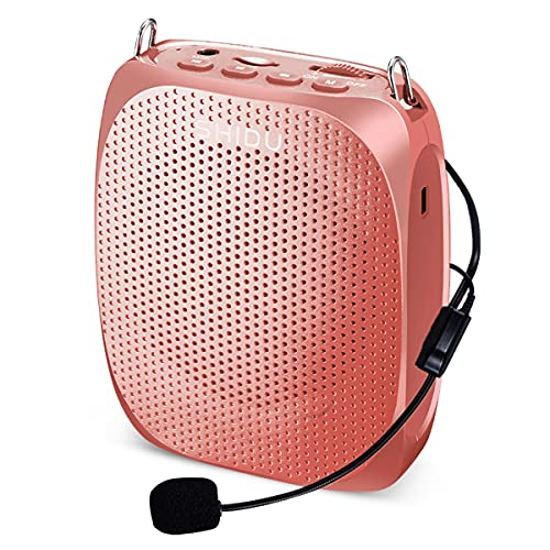SHIDU Portable Mini Voice Amplifier with Wired Microphone Headset and...