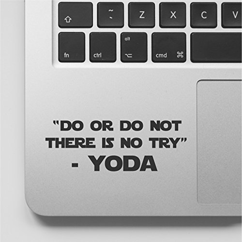 YttBuy-YODA Quote - Do or Do Not There is no Try Laptop Decal Sticker...