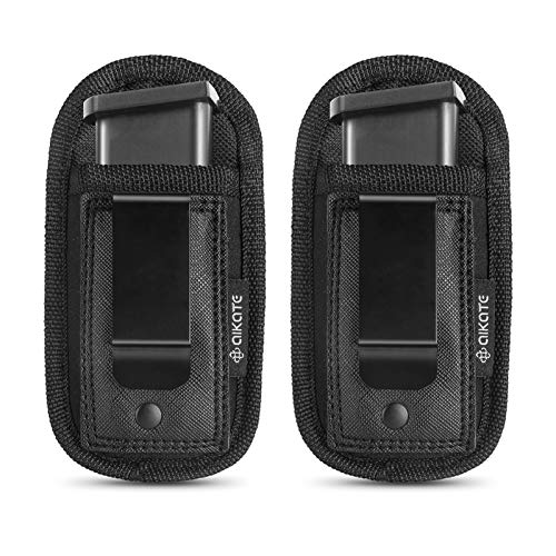 2 Pack Universal Magazine IWB Pouch Concealed Carry 9mm .40 .45 .380 .357,...
