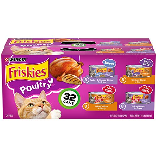 Purina Friskies Gravy Wet Cat Food Variety Pack, Poultry Shreds, Meaty Bits...