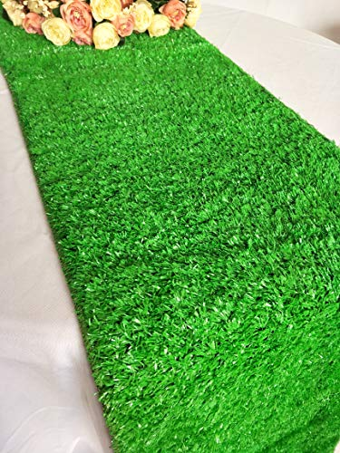 Luchuan Artificial Grass Table Runner for Table Decoration (12'x 108')