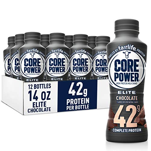 Core Power Elite High Protein Shakes (42g), Chocolate, Ready to Drink for...