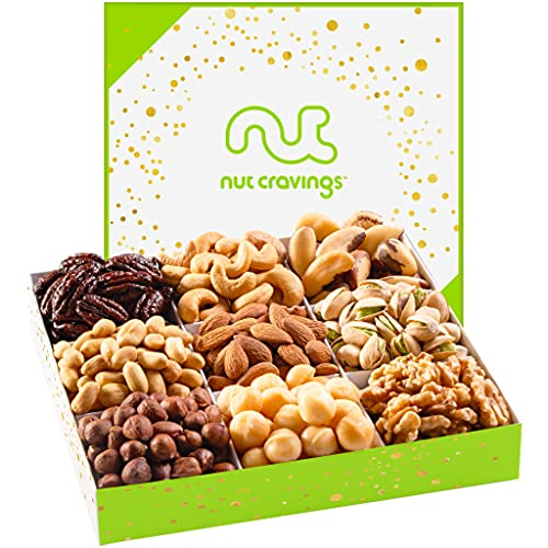Gourmet Nut Gift Basket in White Box (9 Piece Assortment) - Prime...