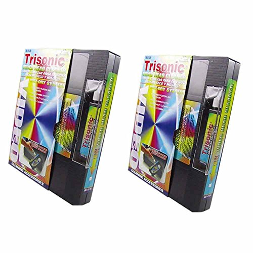 2 Pack Head Cleaning Video Tape Cassette VHS VCR Player Recorder Wet Dry...