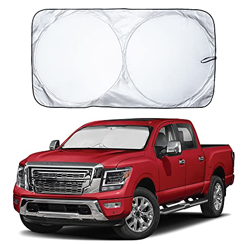 EcoNour Car Windshield Sun Shade with Storage Pouch   Durable 240T Material...