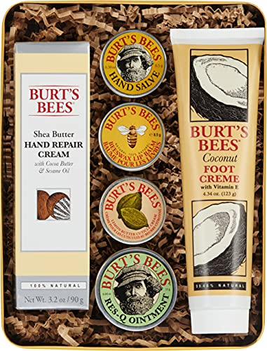 Burt's Bees Classics Gift Set, 6 Products in Giftable Tin – Cuticle...