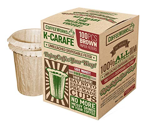 Disposable Natural Brown Unbleached Paper Coffee Filters - Replacement...