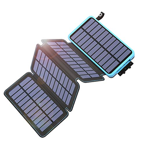 Tranmix Solar Charger 25000mAh Power Bank with 4 Solar Panels Waterproof...
