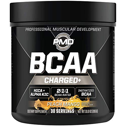 PMD Sports BCAA Charged Delicious Amino Acid Drink Mix for Performance and...