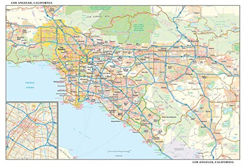 Los Angeles, California Wall Map - 21.75' x 14.5' Paper