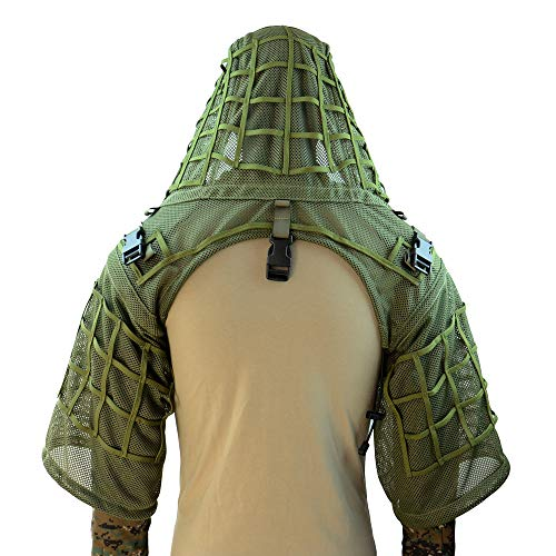 ROCOTACTICAL Super Breathable Ghillie Suit Foundation, Full Mesh Nylon...