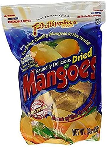 Phillippine Brand Naturally Delicious Dried Mangoes Tree Ripened Value Bag...
