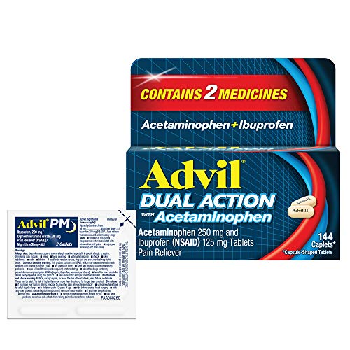 Advil Dual Action with Acetaminophen and Ibuprofen for 8 Hour Pain Relief,...