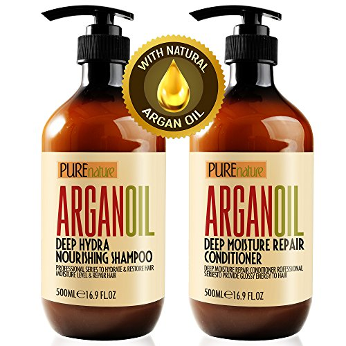 Moroccan Argan Oil Shampoo and Conditioner SLS Sulfate Free Gift Set - Best...