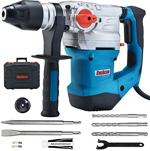 ENEACRO 1-1/4 Inch SDS-Plus 13 Amp Heavy Duty Rotary Hammer Drill, Safety...