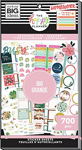 The Happy Planner Big Sized Sticker Value Pack - Planner & School...