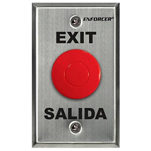 Seco-Larm SD-7201RCPE1Q ENFORCER Request-to-Exit Plate with Red Mushroom...