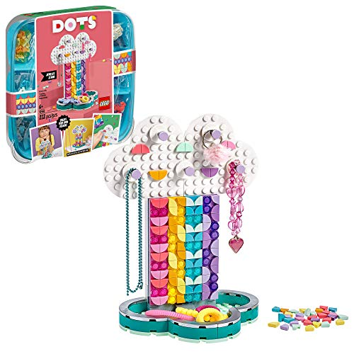 LEGO DOTS Rainbow Jewelry Stand 41905 DIY Craft Decorations Kit, A Fun Toy...