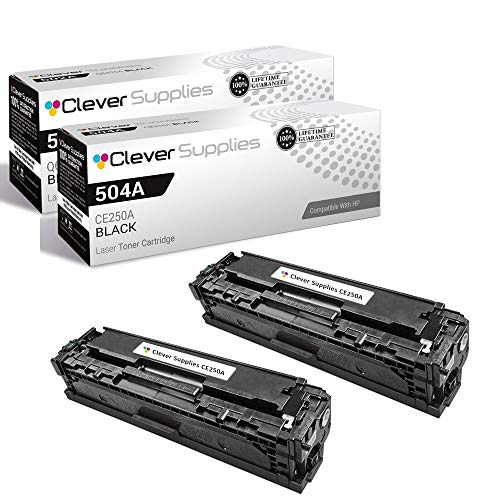 CS Compatible Toner Cartridge Replacement for HP CP3525dn CE250A Black HP...