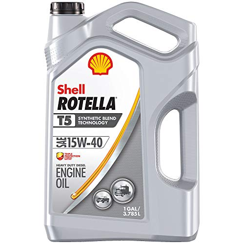 Shell Rotella T - 550045348 5 Synthetic Blend 15W-40 Diesel Motor Oil...