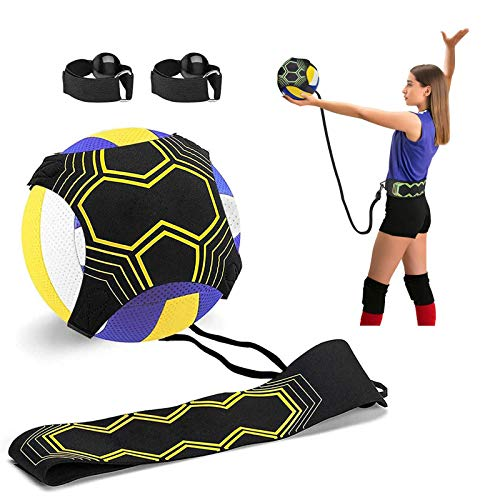 Volleyball Training Equipment Aid, Solo Soccer Trainer, Solo Practice...